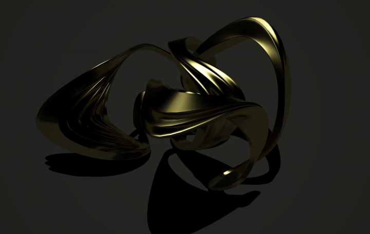 Interference Two Rings Jewellery Design by Roxy Rahel